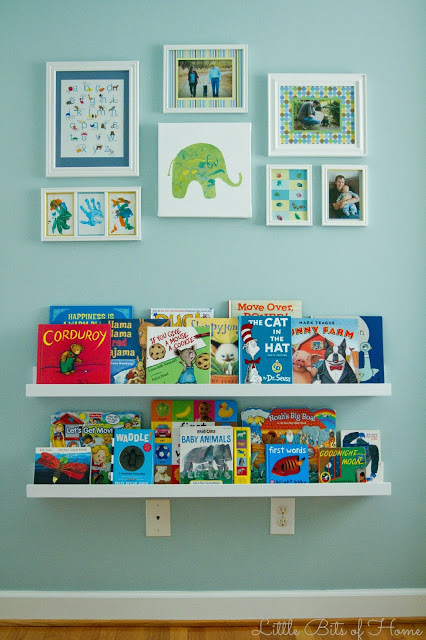 playroom book ledges