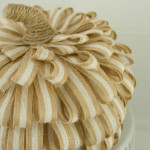 #Homeforthefallidays Halloween Craft Blog Hop: Textured Jute Pumpkin