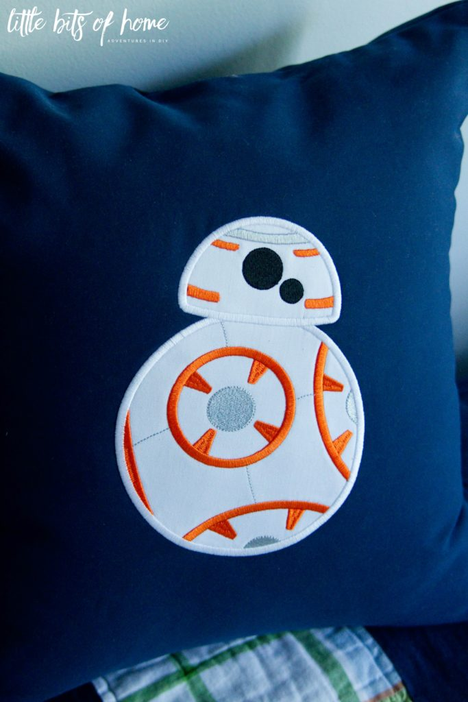 star wars pillow bb8