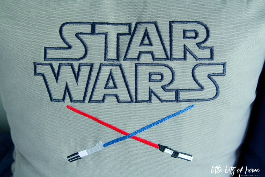 star wars pillow lightsaber