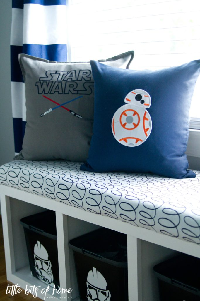 star wars pillow window seat
