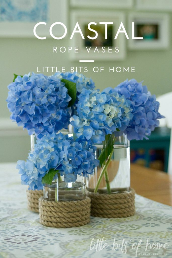 Coastal rope vases little bits of home logo