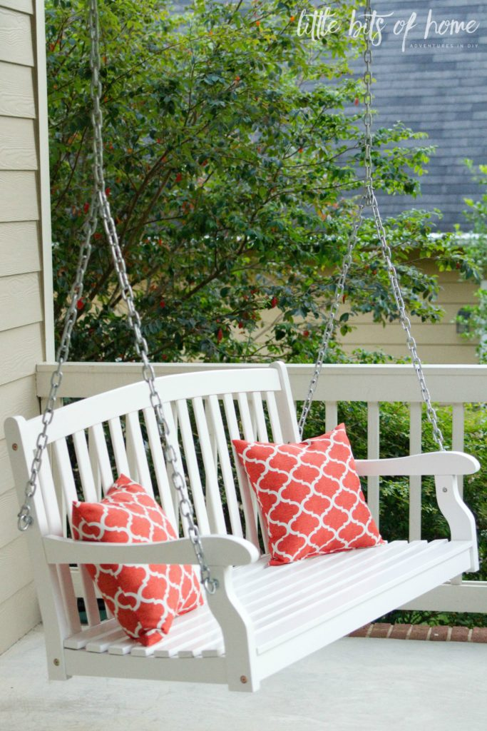 front porch swing little bits of home - Front Porch Swing