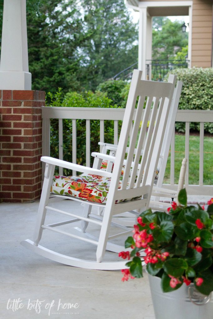 rocking chairs porch little bits of home