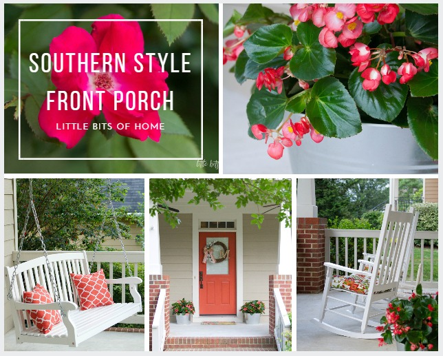 southern style front porch little bits of home