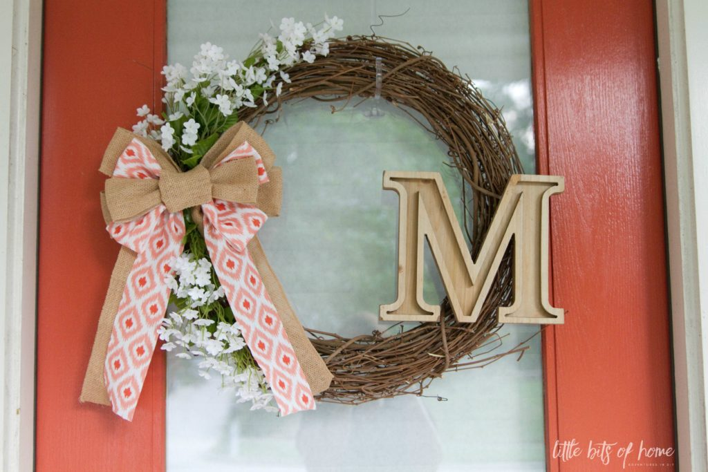 summer coral wreath little bits of home