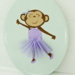Create with Me- Mixed Material Monkey Ballerina Canvas