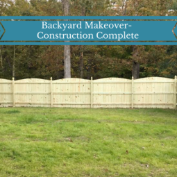 Backyard Makeover: Construction Complete
