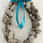 Create with Me- Snow Tipped Pinecone Wreath