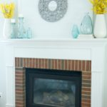 Bright and Cheery Summer Mantel