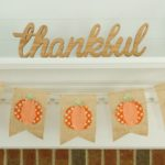 Fabric Scrap No Sew Pumpkin Banner