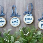 Hand Lettered Wood Slice Ornaments