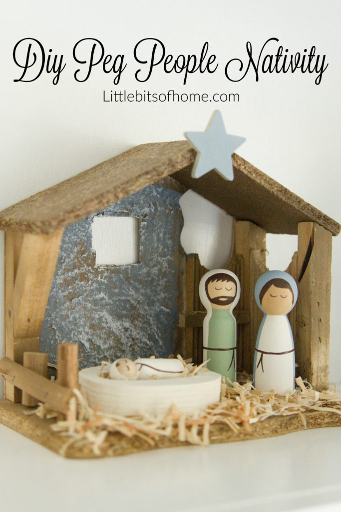 Peg People Nativity Scene